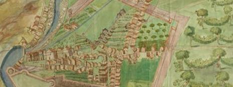 Prospero Tagliapietra di Verona, Pianta di Rovereto, XVII – XVIII, Archivio di Stato di Trento