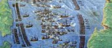 La battaglia di Lepanto, nella Galleria delle carte geografiche, Musei Vaticani - Public domain