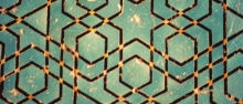 Pannello ceramico a decorazione geometrica della Moschea blu di Tabriz (Iran), 1465