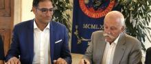 Alex Pellacani e Diego Mosna alla firma