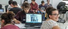 Studenti al lavoro al CLab ©RomanoMagrone