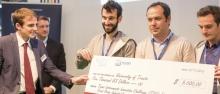 Il gruppo premiato all'Electronic Fair di Monaco