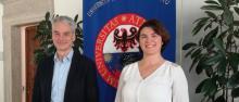 Claudia Cretti con il rettore Paolo Collini