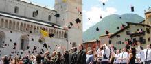 Lancio dei tocchi per la Cerimonia di laurea