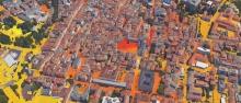 Una mappa del campo termico dell'area urbana di Trento