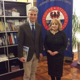 La ministra serba con il rettore ©UfficioStampaUniTrento