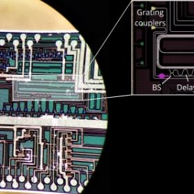Image of the silicon photonic chip